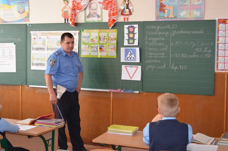 DSC_0450 Измаильские полицейские заботятся о безопасности юных пешеходов (ФОТО)