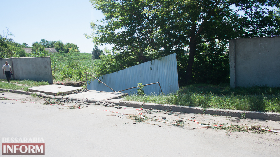 Измаил: прошедший ливень вызвал обрушения в микрорайоне Крепость (ФОТО)