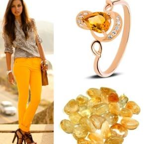 Кольца с цитрином для стильных и красивых