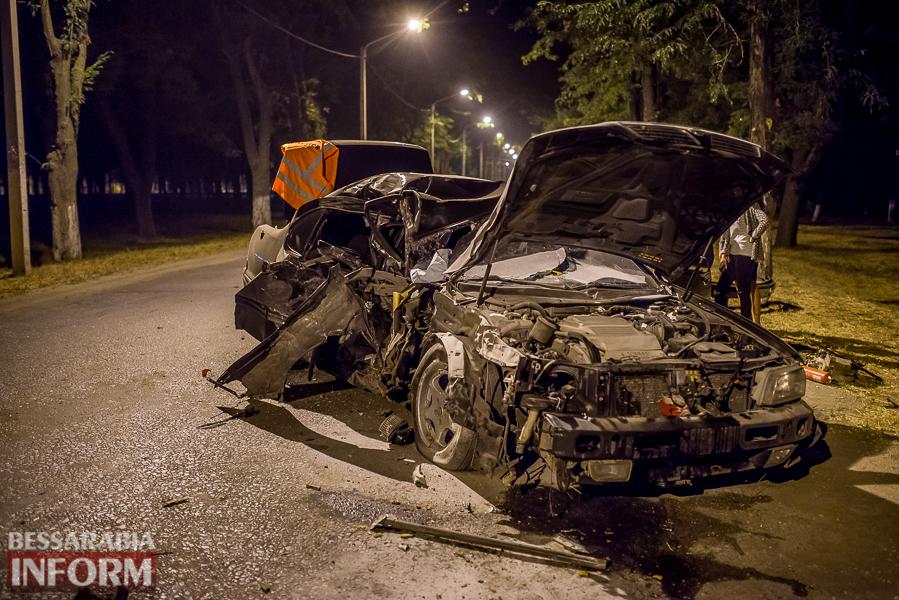 SME_3528 Измаил: водитель разбившегося ночью Nissana был нетрезв (фото)