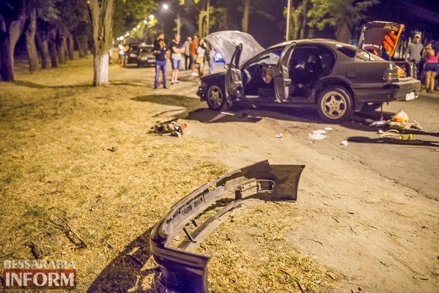 SME_3535 Измаил: водитель разбившегося ночью Nissana был нетрезв (фото)