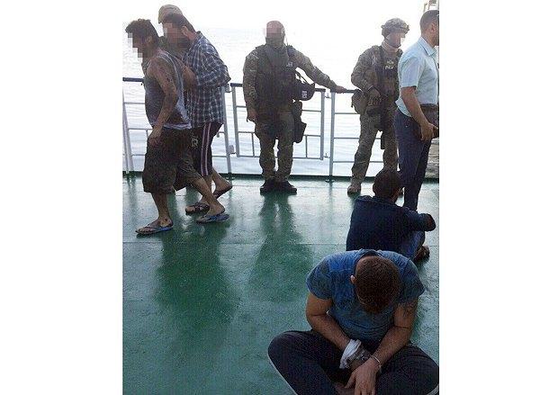 В порту «Южный» СБУ провела штурм турецкого судна, на котором произошел бунт