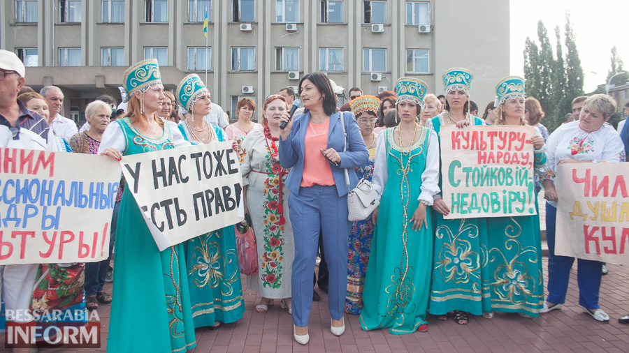 IMG_1712 В Измаиле прошел митинг в кокошниках: районные культработники выступили против действий РГА (ФОТО)