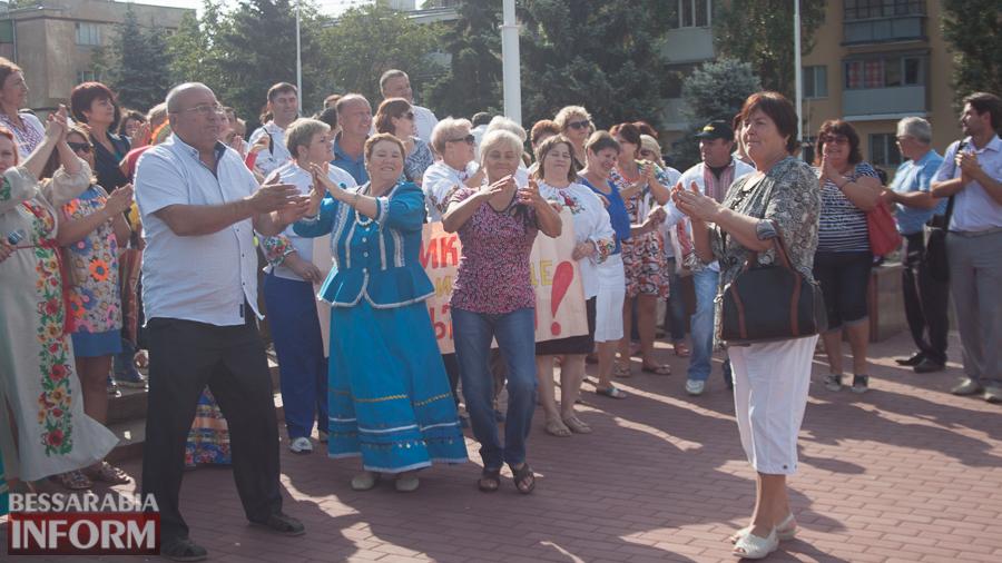 IMG_1743 В Измаиле прошел митинг в кокошниках: районные культработники выступили против действий РГА (ФОТО)