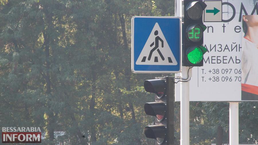 Измаил: у здания полиции заработал новый светофорный узел (ФОТО)