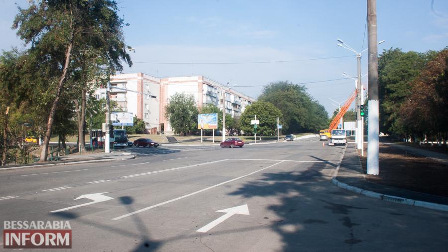 IMG_2155 Измаил: у здания полиции заработал новый светофорный узел (ФОТО)