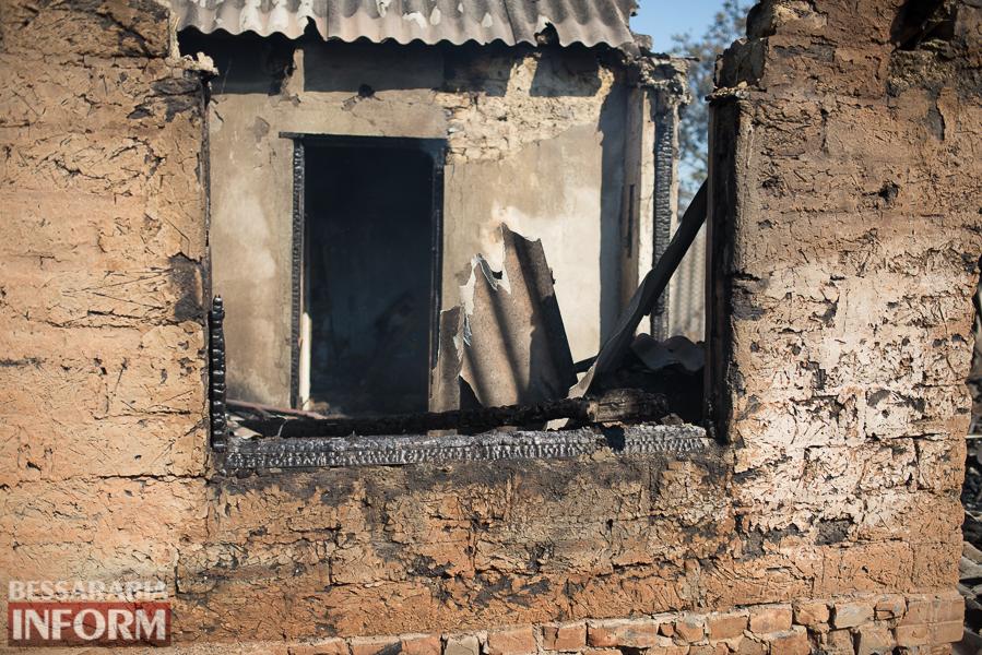 Измаил: последствия пожара на улице Некрасова (фото)