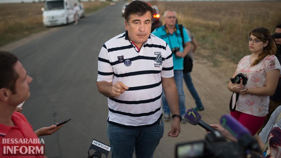 SME_4596 Измаильский р-н: губернатор Саакашвили проехался по свежеотремонтированной дороге на Муравлевку (ФОТО)