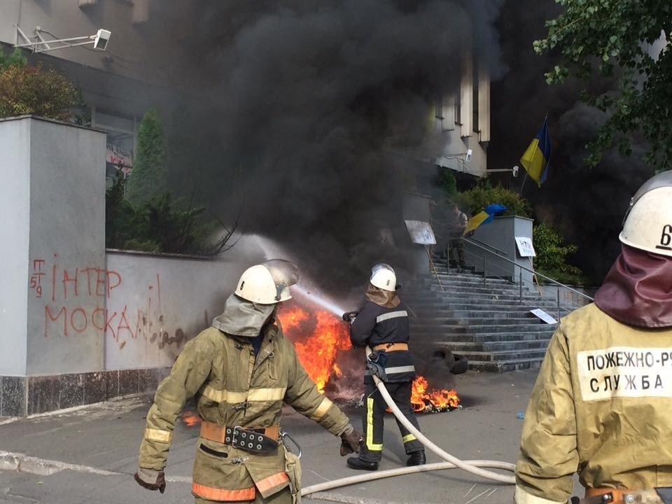 c549deafca761382f7b6304d97_5fe7062e В Киеве подожгли студию телеканала Интер, есть пострадавшие