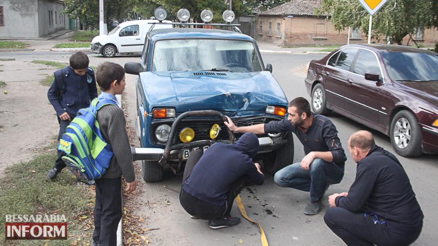 IMG_2899 В Измаиле произошло ДТП с участие трех автомобилей (фото)