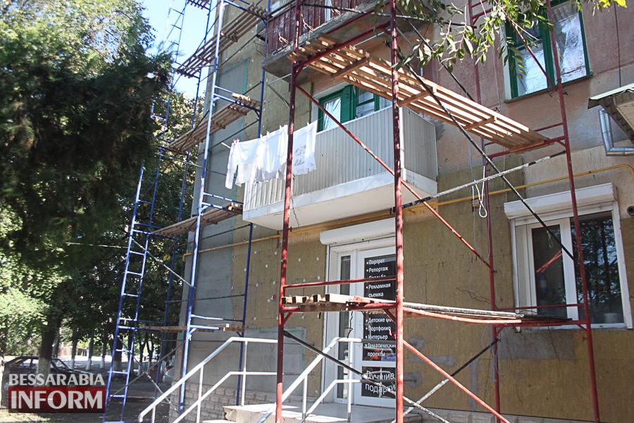 IMG_3400 Ремонт жилого фонда в Измаиле: многоэтажки утепляют минватой и красят в пастельные тона (ФОТО)