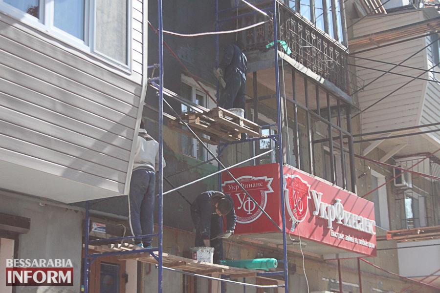 IMG_3455 Ремонт жилого фонда в Измаиле: многоэтажки утепляют минватой и красят в пастельные тона (ФОТО)