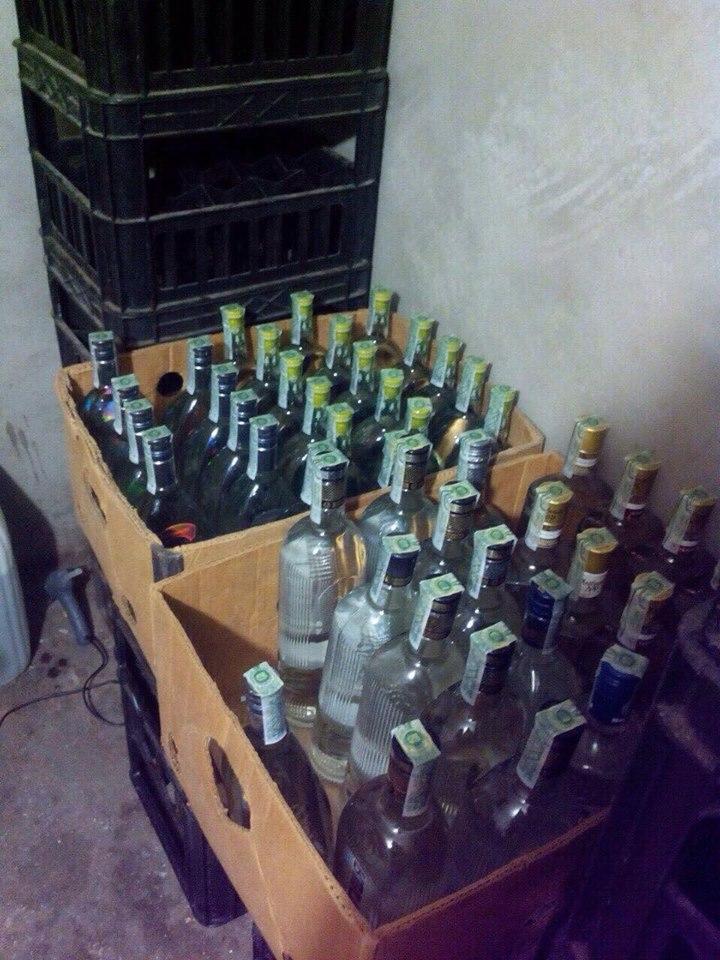 В Белгород-Днестровском изъяли три тонны поддельной водки известных торговых марок