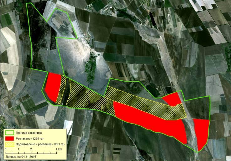 Map-Tarutino Убытки из-за уничтожения заказника «Тарутинская степь» уже превысили 60 млн. гривен - экологи