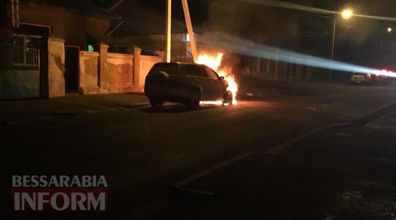 586003eaed7a5_3457457 В Измаиле возле автостанции сгорел автомобиль (фото, видео)