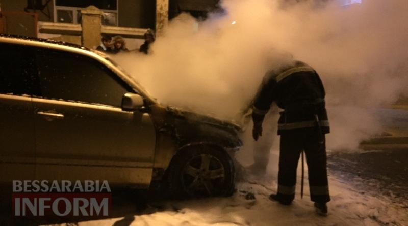 586003eaee75e_4563456 В Измаиле возле автостанции сгорел автомобиль (фото, видео)