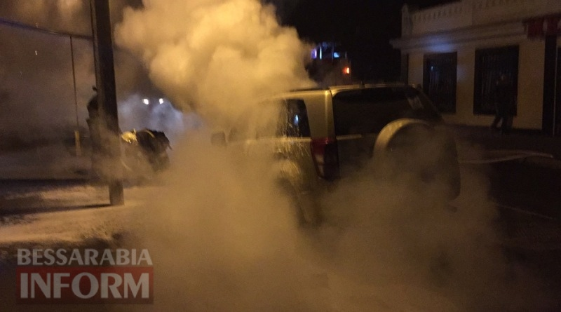 586003eb13f6e_34563456435 В Измаиле возле автостанции сгорел автомобиль (фото, видео)