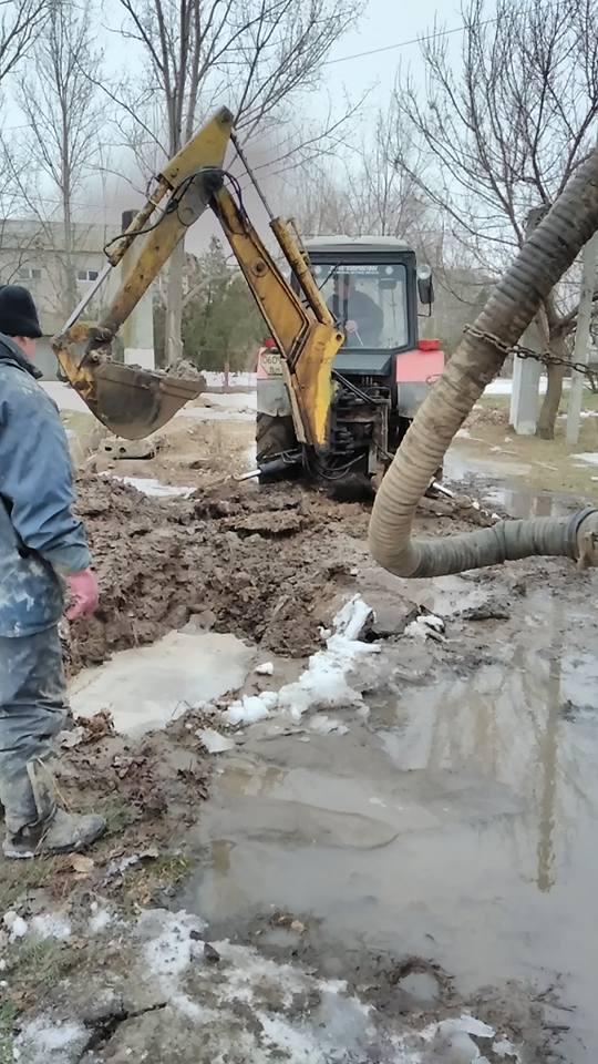 В Килии оперативно ликвидировали прорыв водопроводной трубы