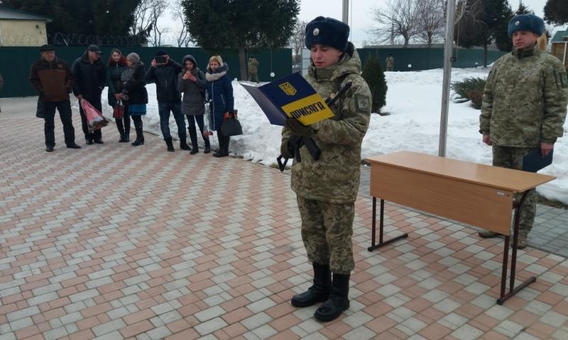 20170127_100802 Измаильские пограничники присягнули на верность украинскому народу