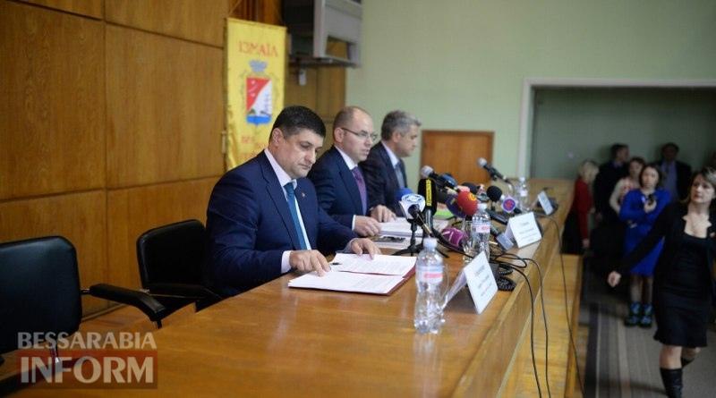 Abramchenko-Stepanov-i-Urbanskij Глава Одесской ОГА находится с рабочим визитом в Измаиле