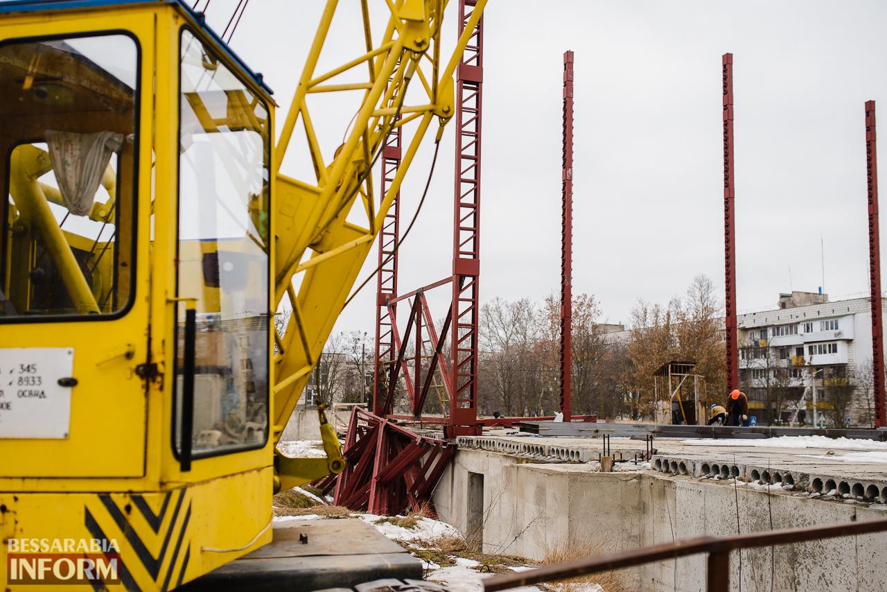 SME_3838 Новый губернатор посетил строительство Дворца спорта в Измаиле (ФОТО)