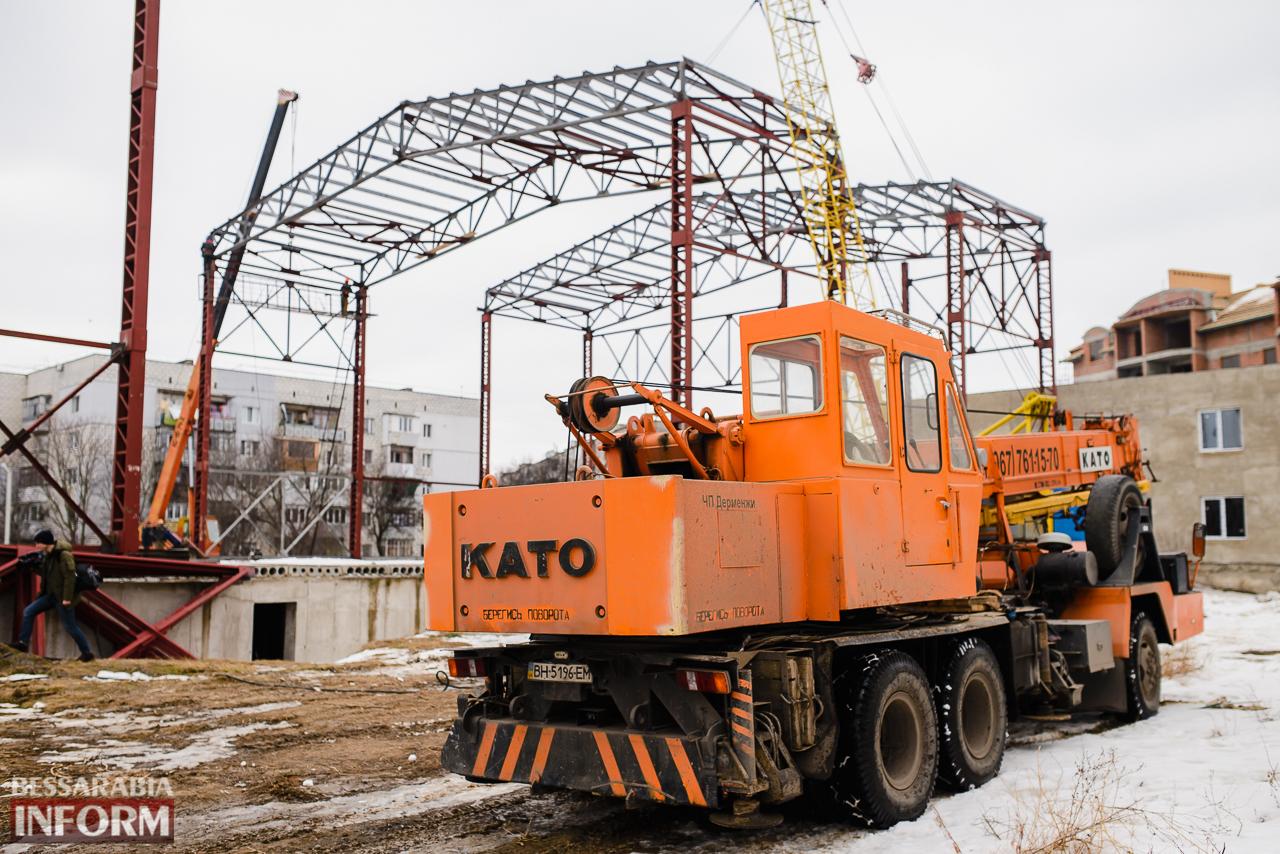 SME_3841 Новый губернатор посетил строительство Дворца спорта в Измаиле (ФОТО)