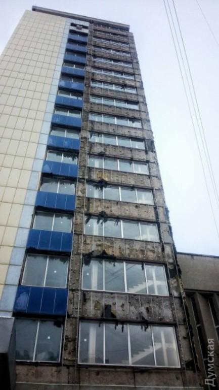 В Одессе горело здание областного совета (ФОТО)