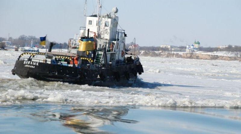 Лед на Дунае