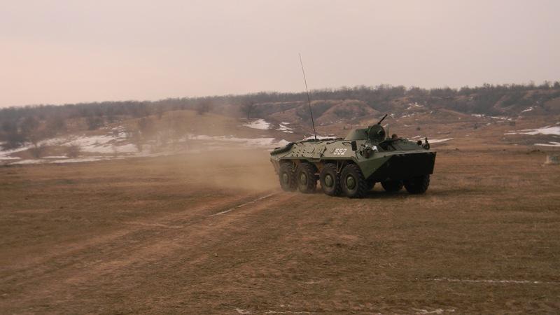 pogranichniki-BTR На полигоне возле Рени прошли трёхдневные учения пограничных спецназовцев (фото)