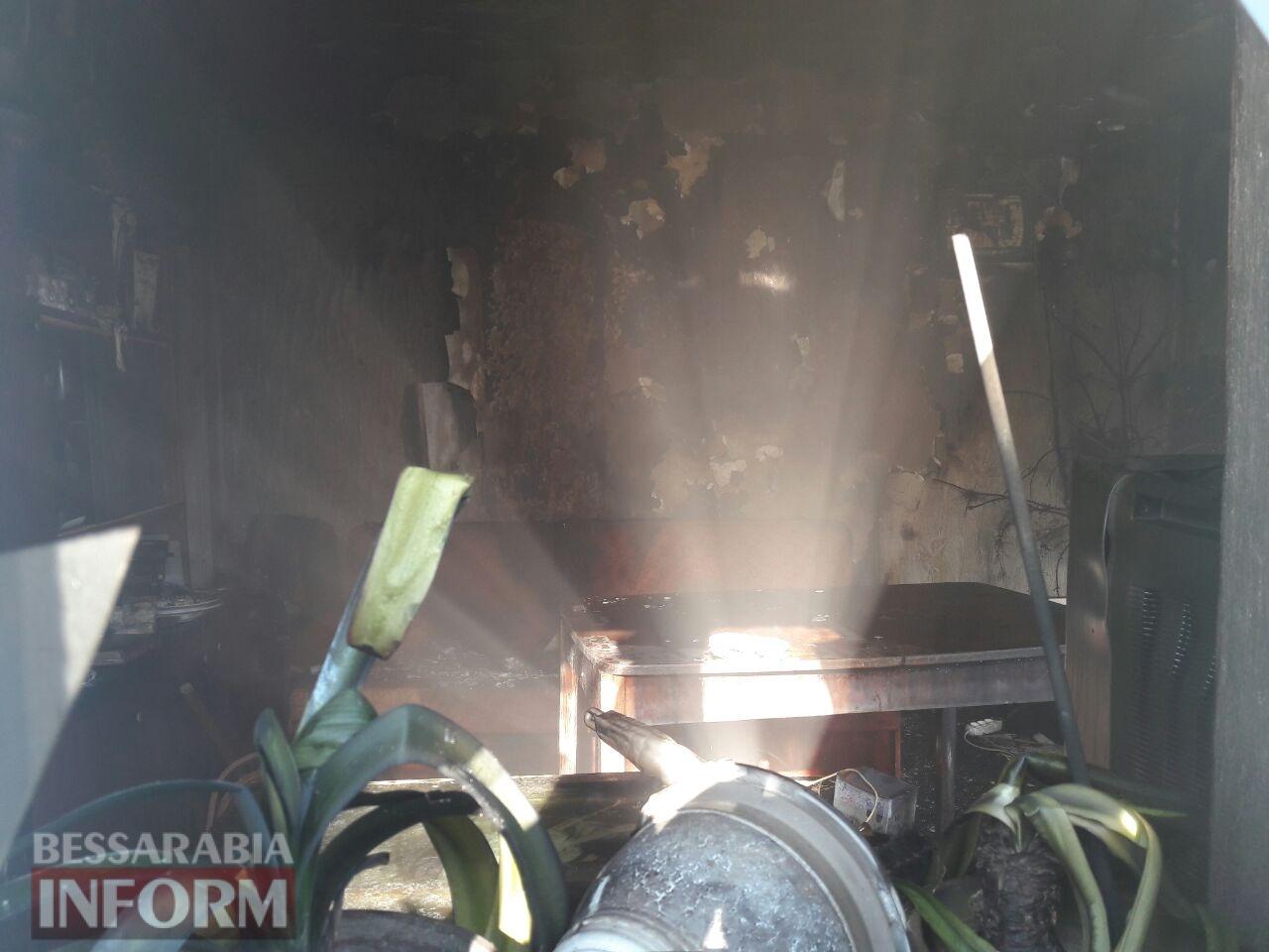 Утром в Измаиле произошел пожар в жилом доме