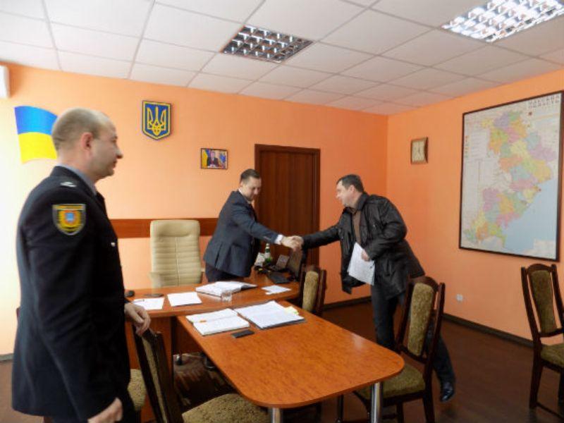Главный полицейский области посетил с рабочей поездкой Аккерман (ФОТО)