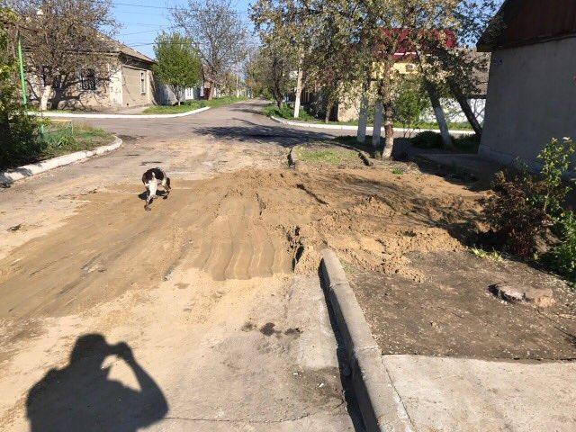 45345 Измаил: после вмешательства руководства города коммунальщики ликвидировали провал на углу улиц Фучика и Соборной