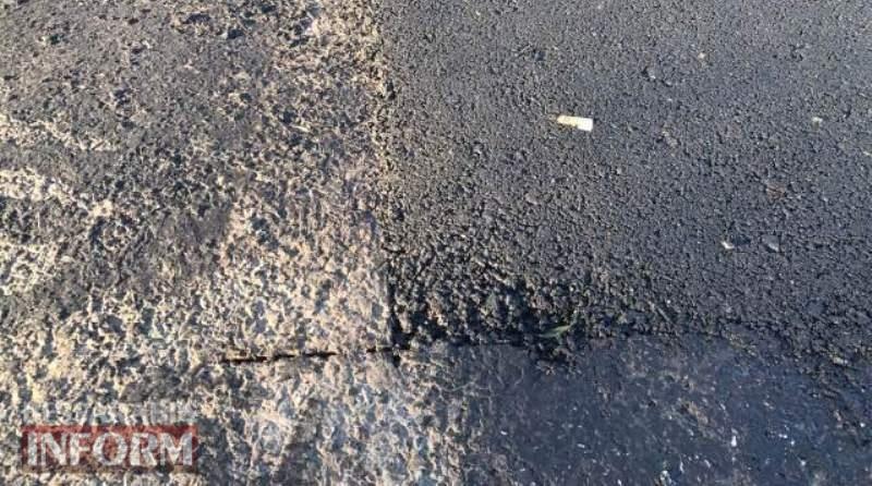 Очередная халтура: в Измаильском районе на недавно отремонтированной дороге уже лепят латки
