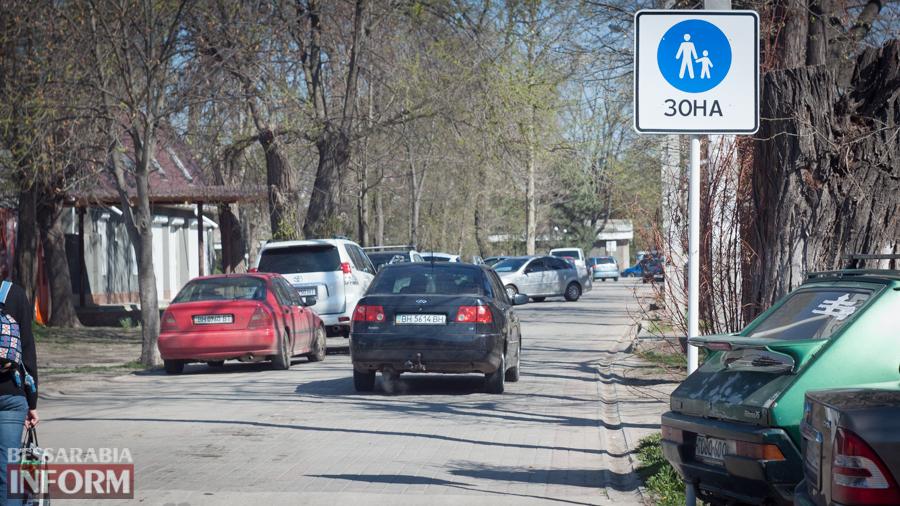 IMG_8614 Фотофакт: пешеходную улицу в Измаиле захватили автомобилисты