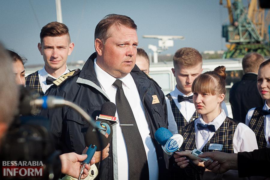 """Старт пассажирской навигации УДП: из Измаила отбыл теплоход """"Молдавия"""""""