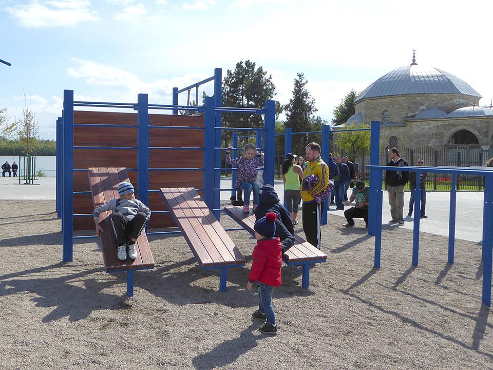 Vorkaut В Измаиле появилась первая площадка для Воркаута