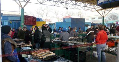 На Измаильском рынке прошел рейд по выявлению незаконной рыбы