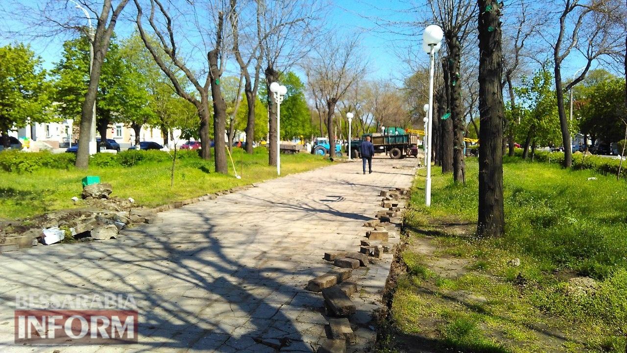 Тротуарный бум в Измаиле: в городе массово ремонтируют пешеходные дорожки
