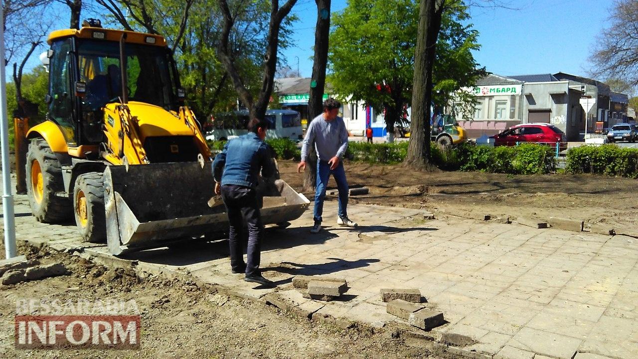 remont-trotuarov-8 Тротуарный бум в Измаиле: в городе массово ремонтируют пешеходные дорожки