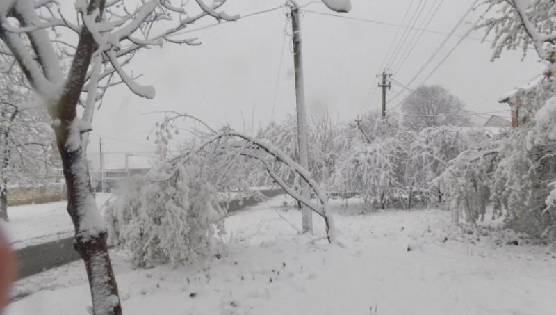 sneg-aprel Арциз заметает снегом
