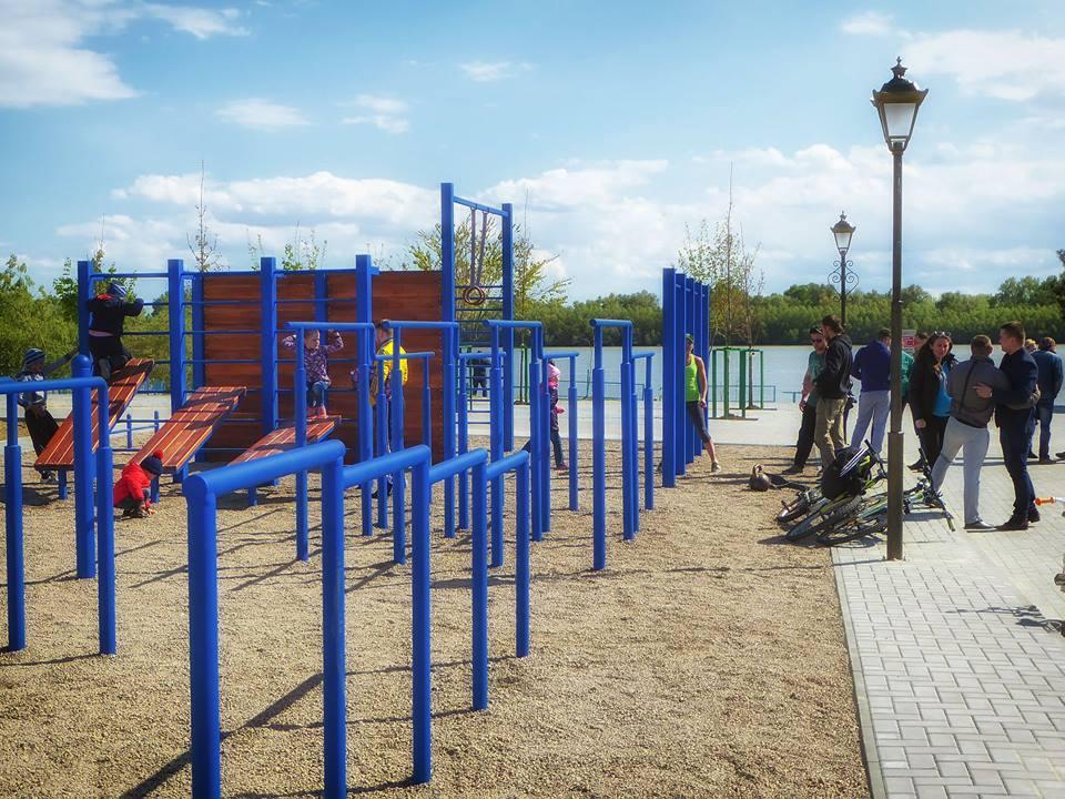 В Измаиле появилась первая площадка для Воркаута