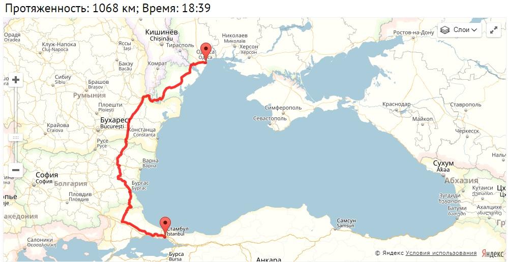 trassa На трассе Одесса-Рени уменьшится количество фур: с Одессы в Турцию запустили паром
