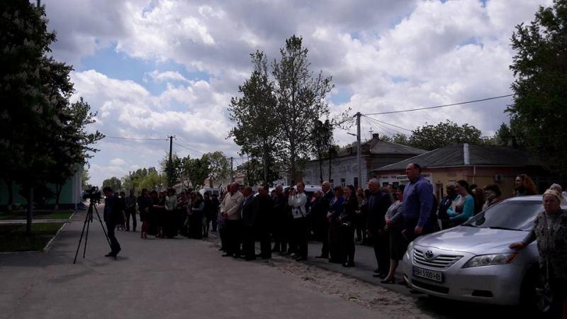 В центре Килии торжественно подняли флаги Украины и Евросоюза