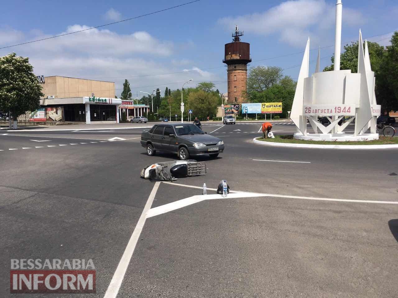 В воскресенье на дорогах Измаила пострадали мопедист и велосипедист