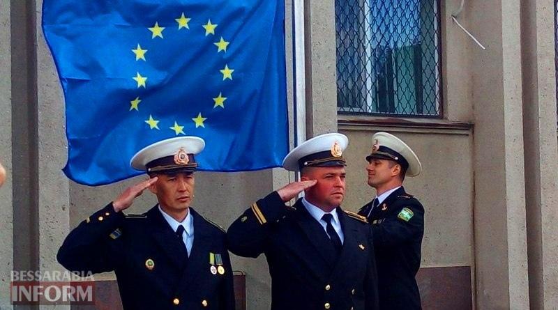 5914315077d44_UkZLS2VaWC8 Ко Дню Европы в Измаиле впервые подняли над городом флаг Евросоюза
