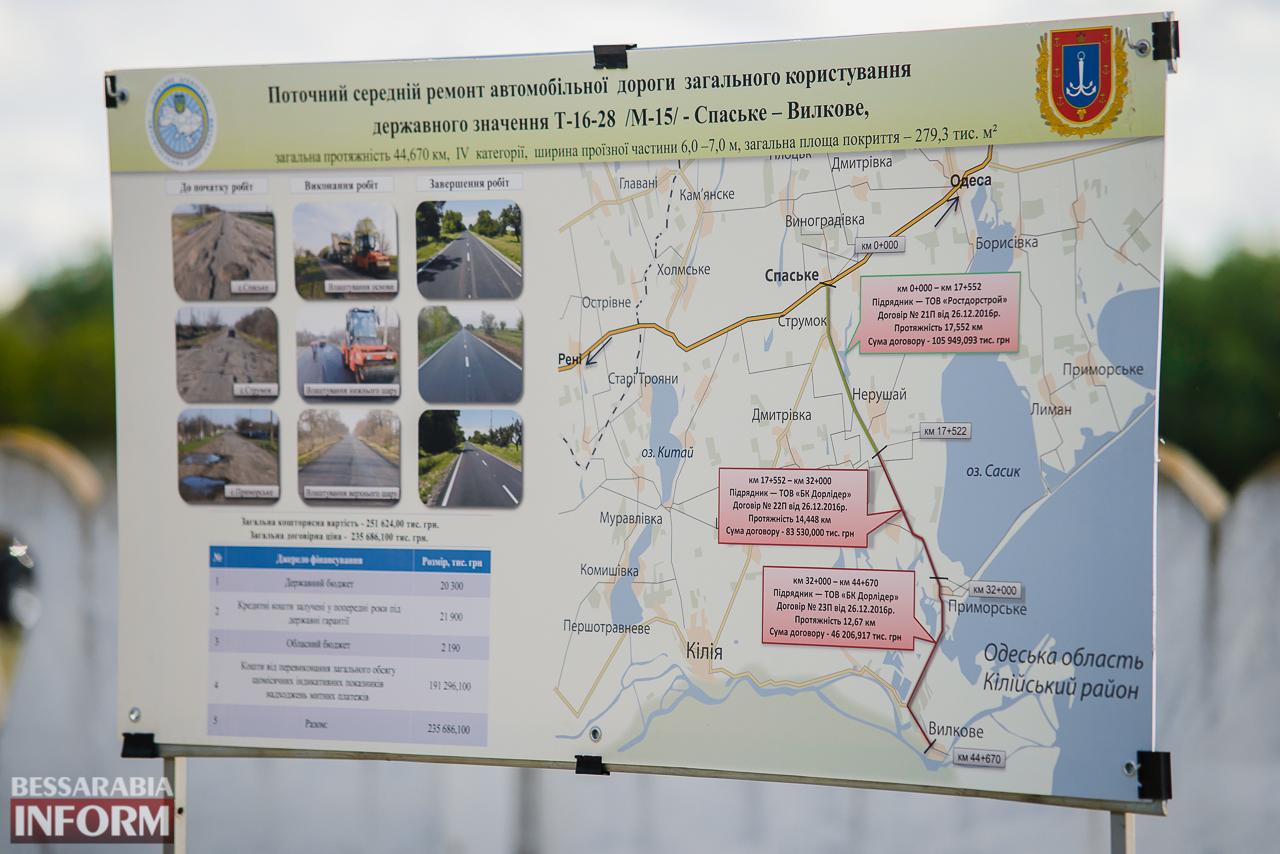 В Килийском р-не поставлена жирная точка в важном инфраструктурном проекте - открыта дорога Спасское-Вилково