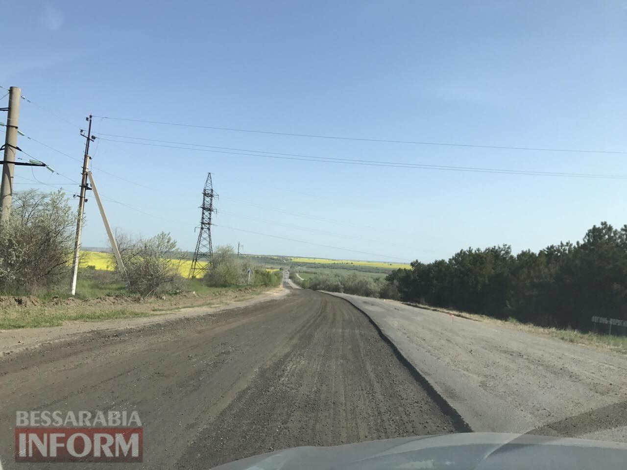 podem-vozle-Utkonosovki-na-trasse-Odessa-Reni На одном из самых аварийных участков трассы Одесса-Рени начались ремонтные работы