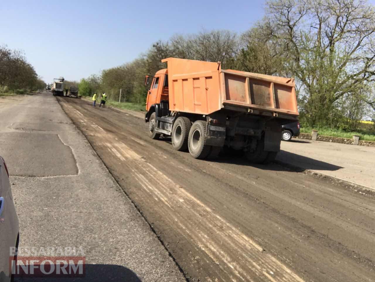 remont-Trassy-Odessa-Reni На одном из самых аварийных участков трассы Одесса-Рени начались ремонтные работы