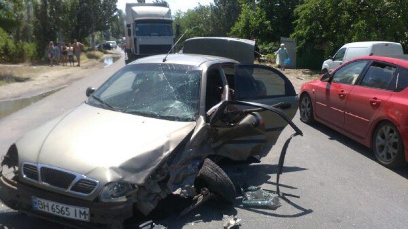 Авария с опрокидыванием: в Затоке в ДТП попали туристы из Белоруссии