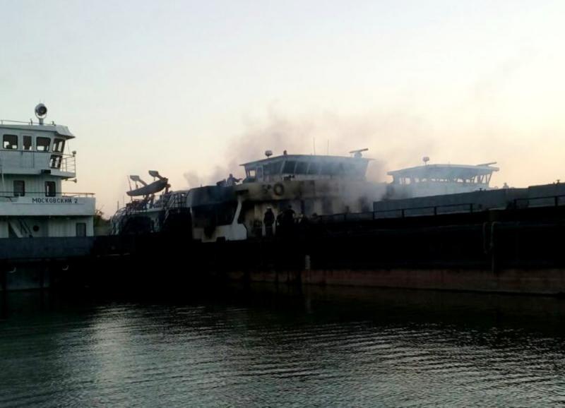 У причала Килийского судоремонтного завода горело словацкое судно